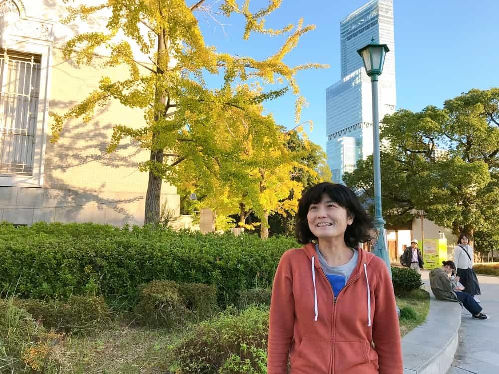 枚岡治子さんの写真。