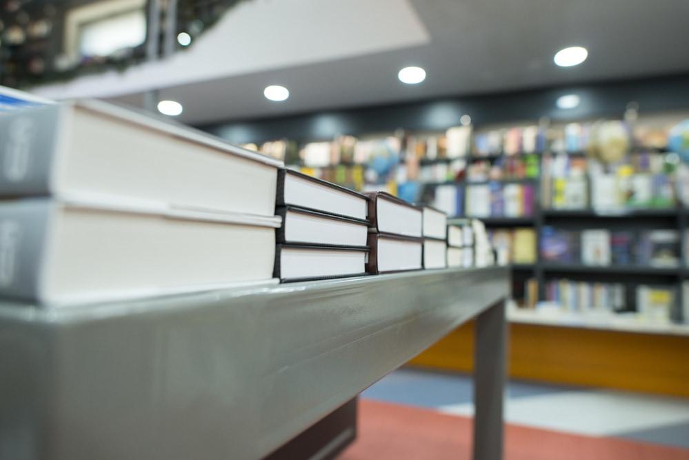 本屋の一角。